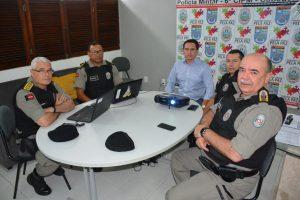 BASTIDORES: Além de Gilberto Carneiro, cúpula da segurança Pública também visita Livânia na 6a CIPM